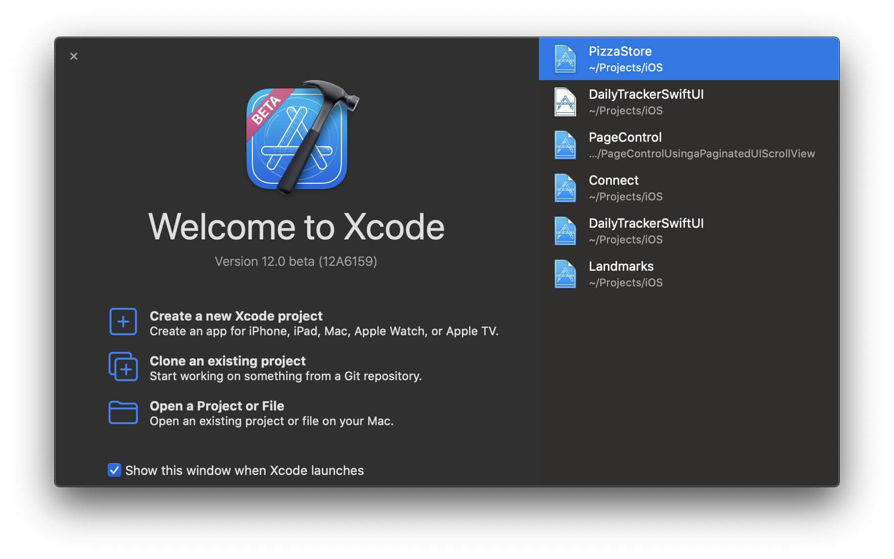 xcode12-beta-app-landing-screen